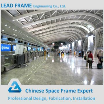 Prefab space frame steel structure metal roof airport terminal