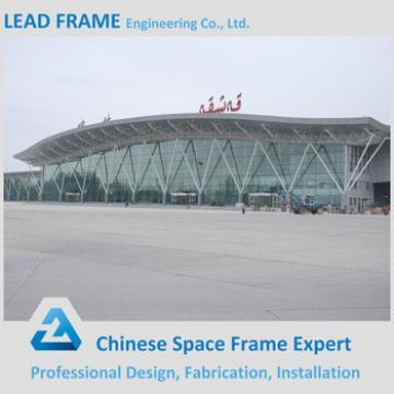 Prefab space frame airport terminal with roof structure