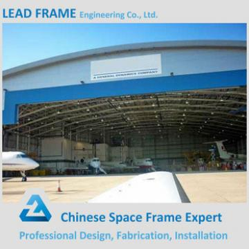 Arched steel frame aircraft hangar