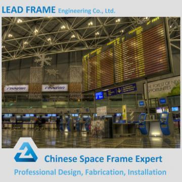 Light Weight Seismic Steel Roof Truss Structure Airport Terminal