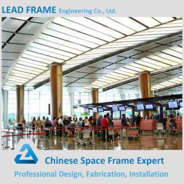 Waterproof space frame steel roof airport terminal