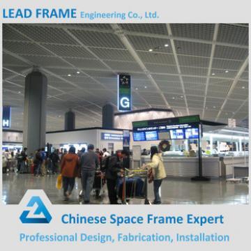 Galvanized steel truss roofing airport terminal