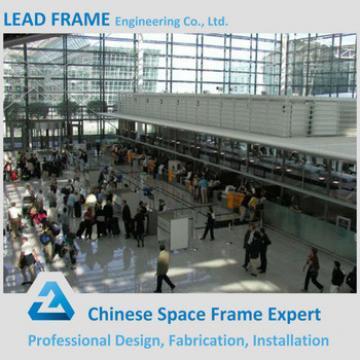 High Standard Design Prefabricated Galvanized Steel Space Frame Airport Station