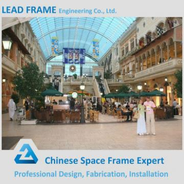 Space frame building construction materials for shopping malls