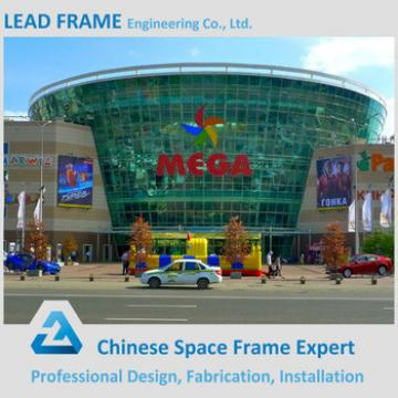 Galvanized Roof Truss Design Steel Structure Shopping Mall