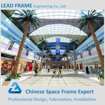 quick installation design peb steel structure shopping mall