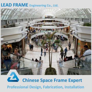 galvanization prefab steel structure building for supermarket