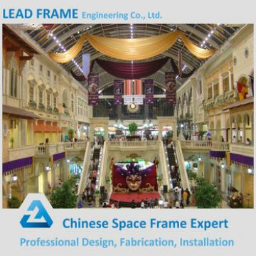 Different Types Modern Design Prefab Space Frame Structure Shopping Mall Construction