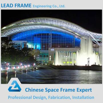 Bule Color Structural Steel Space Frame Function Hall Design