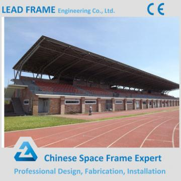 Waterproof space frame stadium with steel roof cover