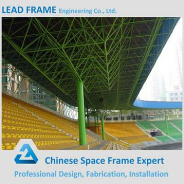 light gauge metal building space frame arched roof truss for stadium bleacher