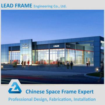 Transparent Daylighting Belt Steel Space Frame Structure Prefabricated Wedding Halls