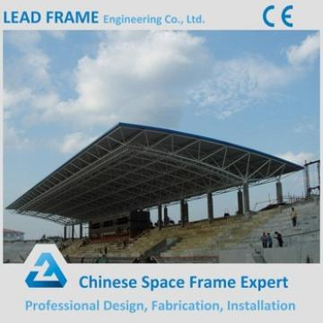 Lightweight steel space frame structure for school bleacher