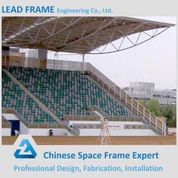 long span prefabricated bleachers steel space frame for stadium