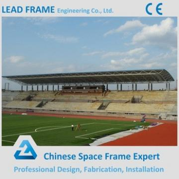 Space frame bleachers for prefabricated school building