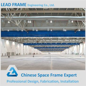 Gray Color Steel Space Frame Long Span Roof Prefabricated Hall