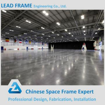 columnless prefab light steel space frame conference hall building