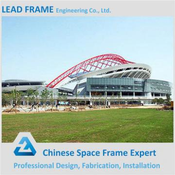 Membrane and Steel Space Frame for Outdoor Stadium Bleacher Roof