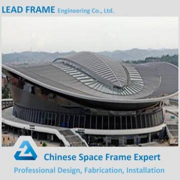 Low cost waterproof steel space frame structure stadium