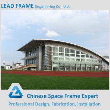 Steel space frame stadium roof for sport hall