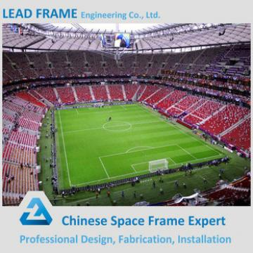 long span anti-rust space frame roof structure sport hall