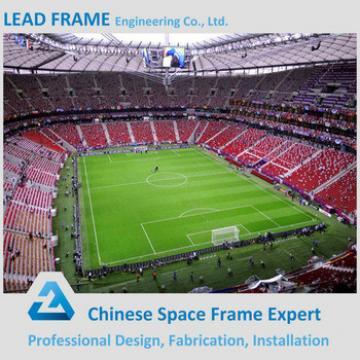 prefab light steel football stadium space frame design