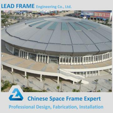 Prefab football stadium with steel roof cover