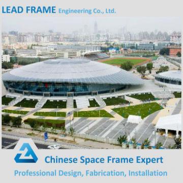 Elegant appearance steel space frame prefab sports hall