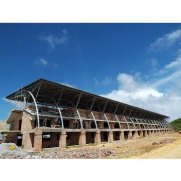 prefabricated hot dip galvanized bleacher steel roof trusses for sale