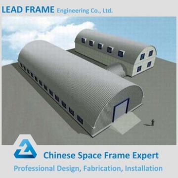 Structural Steel Large Span Warehouse Fabrication Curved Roof Design Structural Steel Shed