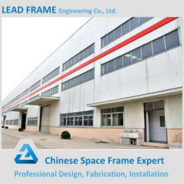 Two story steel structure warehouse with metal roof
