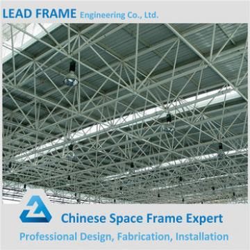 Steel girder truss for metallic roof