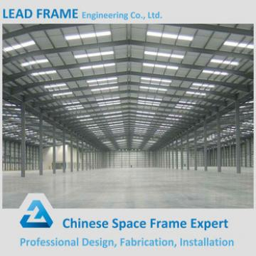 columnless prefab light industrial steel warehouse