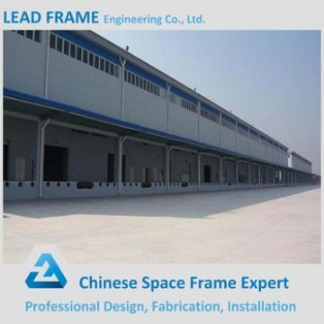 Prefabricated godown warehouse metallic roof steel structure