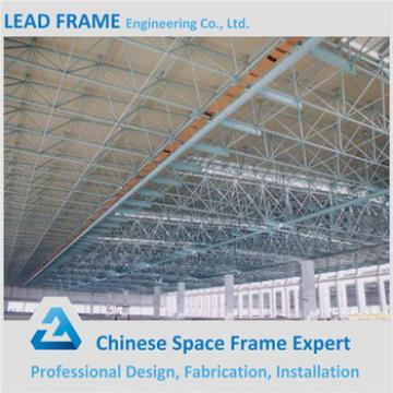 Long span space truss structure for steel roof cover