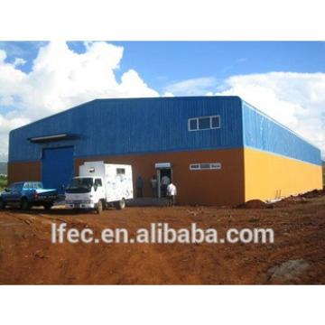 High Rise Long Span Light Type Steel Prefabricated Industrial Sheds