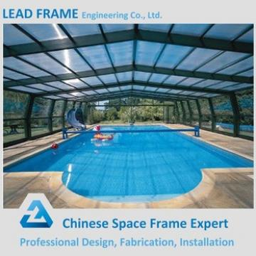 High Quality Prefab Glass Adult Swimming Pool Cover