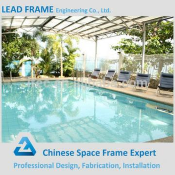 Galvanized steel roof truss for fiberglass swimming pool