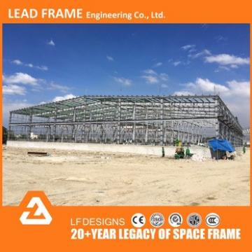 40GP loaded insulated powered coated steel structure workshop shed buildings