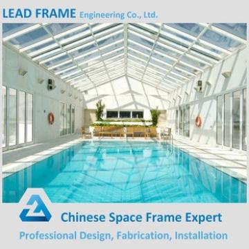 Professional Design Prefab Fast Assembling Steel Structure Swimming Pool Roof