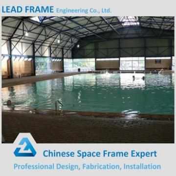 Space frame structural steel roof for indoor swimming pool