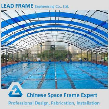 Galvanized steel roof structure prefabricated swimming pool canopy