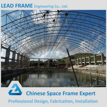 Arched customized space frame swimming pool roof