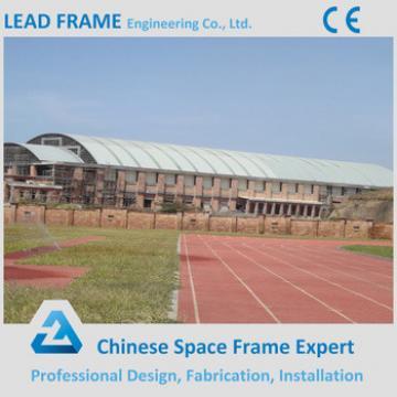 Fiberglass swimming pool roof space frame design