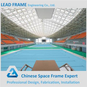 long span prefab steel space metal frame swimming pool