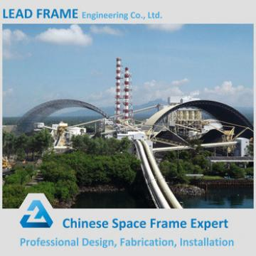 Galvanized space frame for coal storage yard