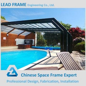 flexible customized design canopy roof of swimming pool