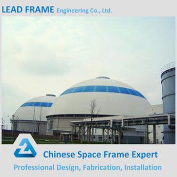 Waterproof steel grid frame coal storage with roof cover