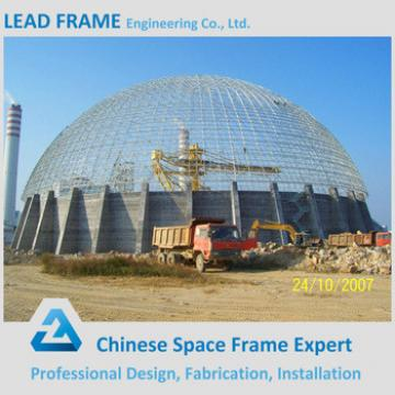 Large Span Steel Structure Space Frame Dome Shed For Coal Power Plant
