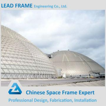 Customized space frame dome coal storage building